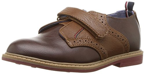 Tommy Hilfiger Kids Boys' Michael Saddle-t Loafer, Dark Brown, 12 M US Little Kid