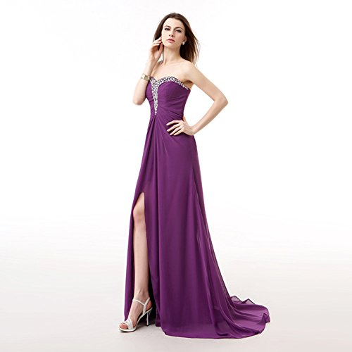 Gown Yellow Dress Sweetheart Long BessWedding Elegant Chiffon Prom Evening Bridesmaid ZBOB8zwq