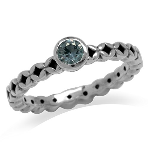 ge Alexandrite 925 Sterling Silver Filigree Stack/Stackable Solitaire Ring Size 9 (Filigree Solitaire Ring Setting)