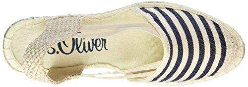 s.Oliver Damen 28325 Espadrilles Blau (NAVY/NATURE 827)
