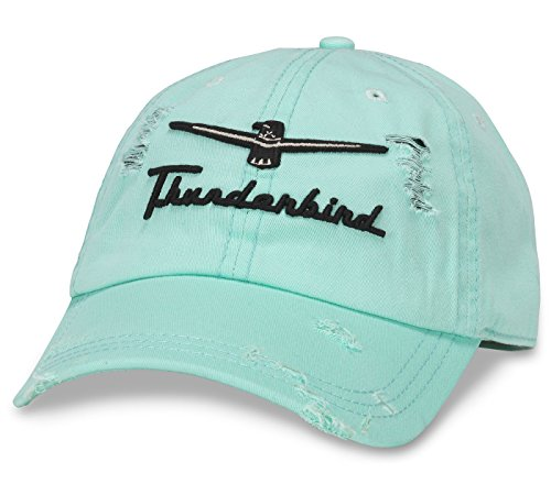 American Needle Ford Thunderbird Shredded Slouch Cap - Seafoam American Needle Embroidered Cap