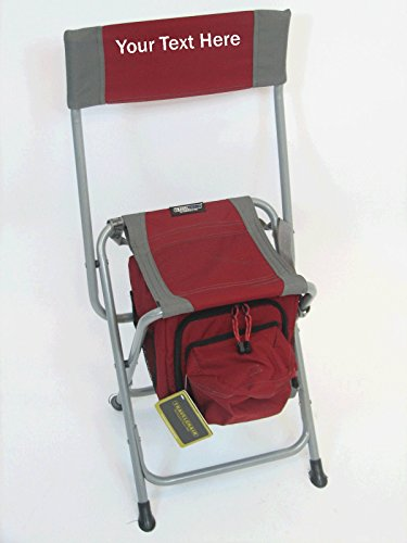 Personalized Folding Cooler Chair (Red)