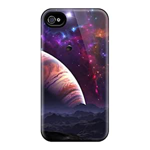 Premium Space View Back Covers Snap On Cases For Iphone 4/4s