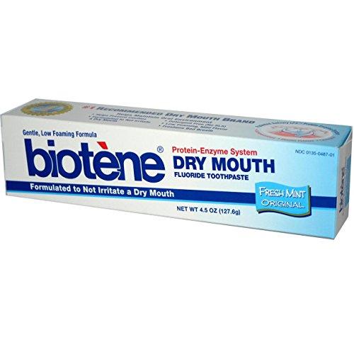 Biotene Toothpaste, Fresh Mint, 4.3 Ounce (Pack of 6) ,Biotene-trdf