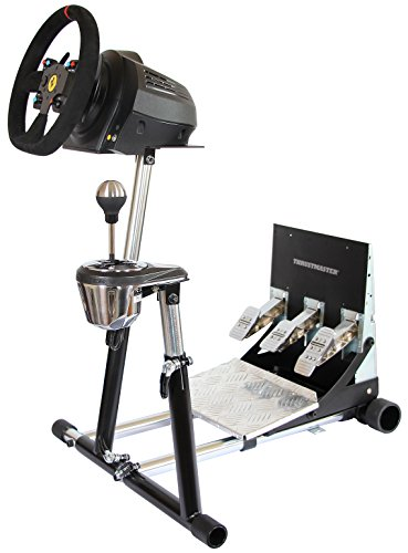 SuperTX Deluxe Wheel Stand w/ RGS & GTS. Thrustmaster T300RS, TX Leather, T150/T150 Pro/TMX/TMX Pro, GT, TX458, TS-W, TS-PC & T500RS.Wheel Stand Pro Stand V2. Wheel & Pedals Not included