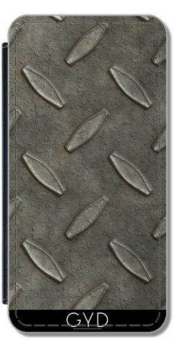 Leder Flip Case Tasche Hülle für Apple Iphone 7 / Iphone 8 - Industrie-Grunge-Stahlplatte by Andrea Haase