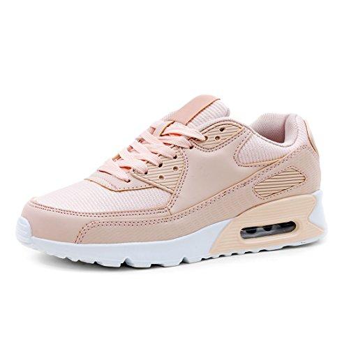 Trendige Unisex Damen Herren Laufschuhe Schnür Sneaker Sport Fitness Turnschuhe Pink 41 Marimo 5ARpCERx6Y