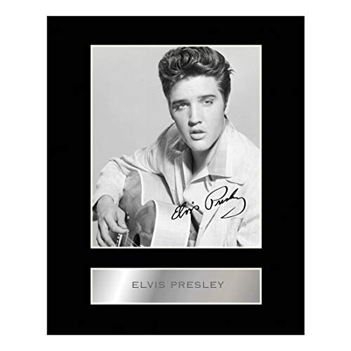 Elvis Presley Signed Mounted Photo ()