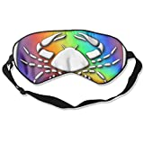 WUGOU Sleep Eye Mask Cancer Lightweight Soft Blindfold Adjustable Head Strap Eyeshade Travel Eyepatch