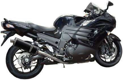Delkevic Aftermarket Slip On compatible with Kawasaki ZX-14R Ninja Stubby 14