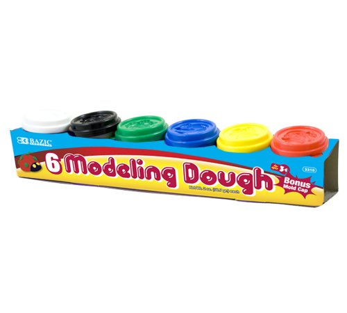 bazic-2-oz-multi-color-modeling-dough-6-pack
