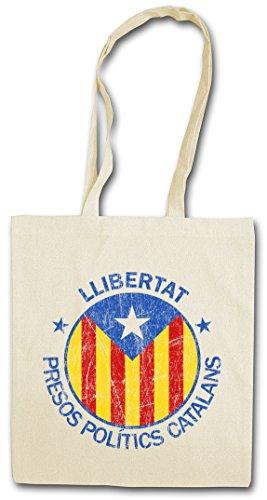 LLIBERTAT CATALONIA Hipster Shopping Cotton Bag Borse riutilizzabili per la spesa
