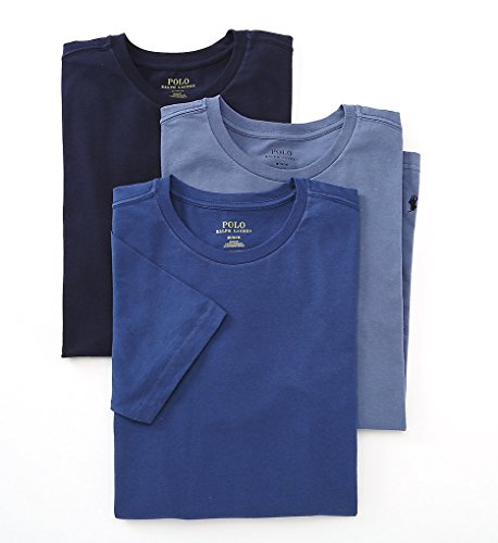 Polo Ralph Lauren Slim Fit Crew Neck Undershirts 3-Pack Blue Assorted - Ralph Navy Polo Lauren