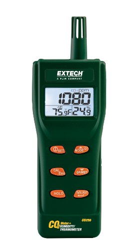 Iaq Meter - Extech CO250 Portable Indoor Air Quality CO2 Meter/Datalogger