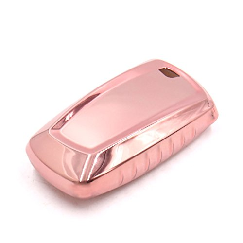 uxcell Pink Remote Key Case Holder Shell Protect Cover Fit For 2016 BMW by uxcell