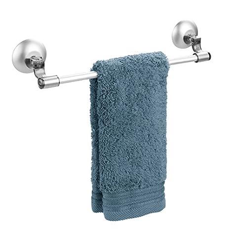 mDesign Toallero autoadhesivo - Soporte porta toallas, paños o repasadores - Toallero auto adhesivo para