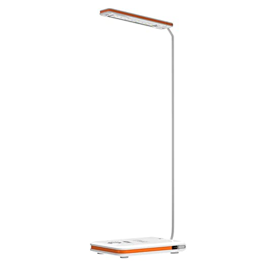 Lámpara de escritorio, lámpara de escritorio Brilex LED Lámpara de mesa Usb Classic, lámpara de cargador inalámbrico, uso de estudio de dormitorio de ...