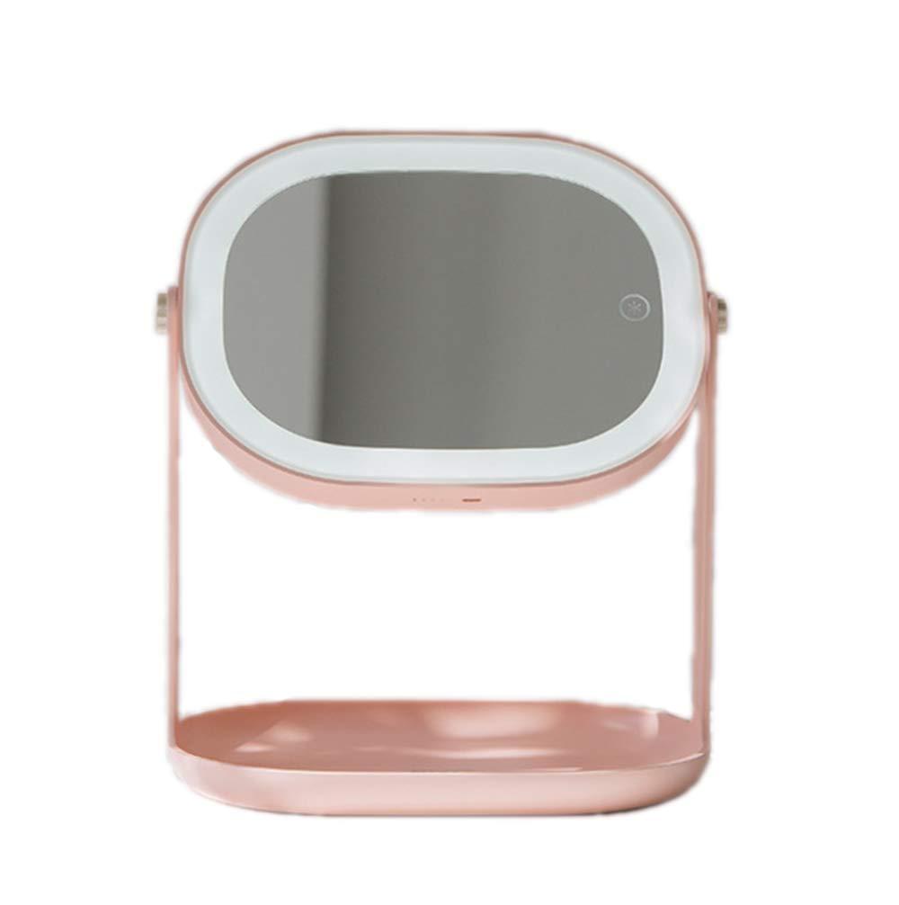 Specchio Cosmetico Per Il Trucco Touch Screen A LED Con 2 Impostazioni Di Luce E Specchio Ingranditore - Scegli Tra Luce Naturale Naturale, O Luci Bianche Neutre - Specchio Cosmetico A Ricarica,White JASNO
