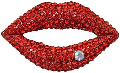 レディース ジュエリー アクセサリー キラキラ セクシー 赤い 唇 ブローチ LOVE ブローチ パール ラペルピン プレゼント