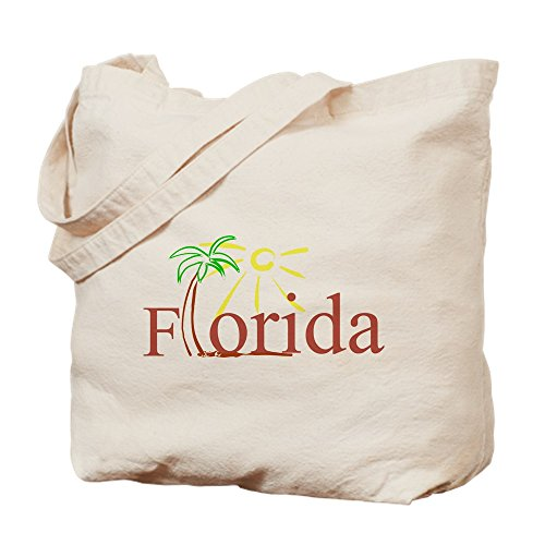 CafePress - Florida Palm - Natural Canvas Tote Bag, Cloth Shopping - Shopping Petersburg St Fl