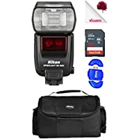 Nikon SB-5000 AF Speedlight Flash Black (4815) USA - Accessory Starter Bundle Package Deal