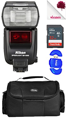 Nikon SB5000 / SB-5000 AF Speedlight Flash Black (4815) USA - Accessory Starter Bundle Package Deal by Wooodland Hills Camera