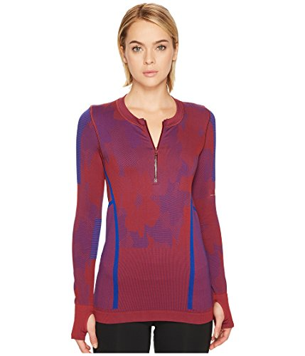 adidas by Stella McCartney Women's Run Seamless Long Sleeve BQ8565 Legend Red S10/Bold Blue Small