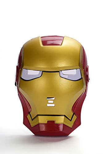REINDEAR Comics Costume Superhero LED Light Eye Mask (Iron Man)]()