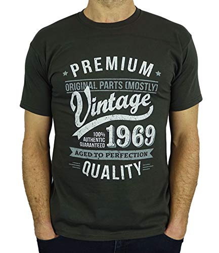 6a2c2a90a 1969 Vintage Year - Aged To Perfection - 50th Birthday Gift / Present Mens T-Shirt  - Buy Online in Bahrain. | Clothing Products in Bahrain - See Prices, ...