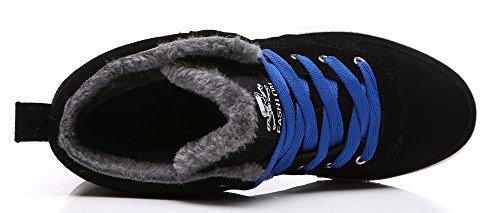 YIRUIYA Mens Causal Winter Snow Boots Skate Shoes With Velvet Black kO59Y