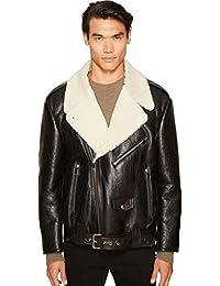 Mens Oversized Shearling Jacket