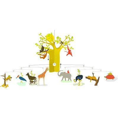 Djeco Enchanting Hanging Mobile, African Savannah
