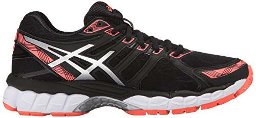 Asics Women's Gel-Evate 3 Running Shoe Black/Silver/Flash Coral collections for sale classic Xhilgu