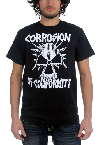 Authentic CORROSION OF CONFORMITY Old School Logo Spiked Skull T-Shirt S-2XL NEW