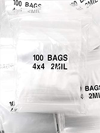 b295ee3d471 Image Unavailable. Image not available for. Color  Dazzling Displays  4 quot  x 4 quot , 2 Mil Clear Zip Lock Bags, Case