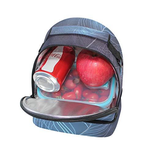 double déjeuner Cooler à réglable épaule Paon nique pour pique Sangle Fond Sac flou agpWCxd