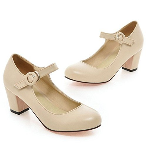 Color Donna Zanpa Sweet col Solid Beige Scarpe Tacco rrfYqw