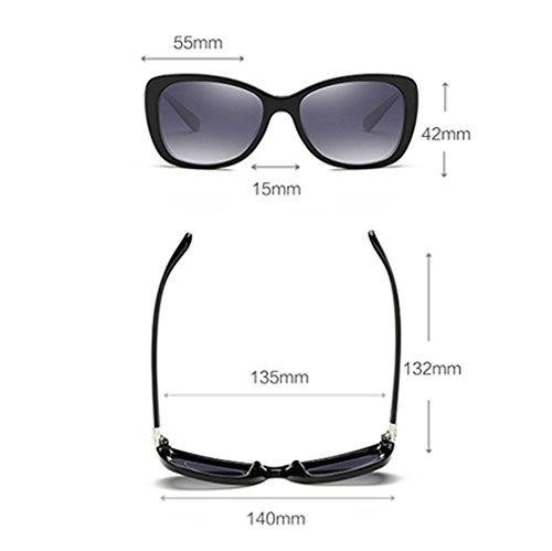Calle Mujeres Clásico sol Wayfarer Las la de de Blue Moda polarizadas Gafas Protección UV400 de Blue 55mm Color n17xx4