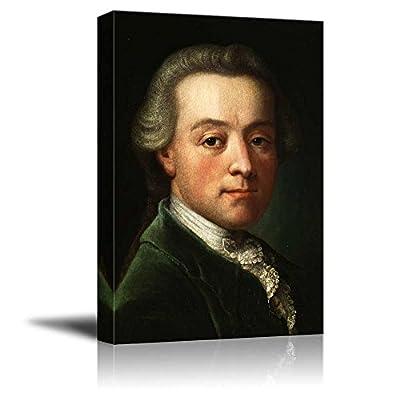 Portrait of Wolfgang Amadeus Mozart Wall Decor - Canvas Art