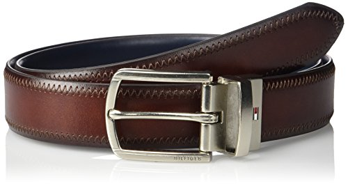 Tommy Hilfiger Men's 1 1/4 Inch Feathered Edge Stitched Reversible Belt