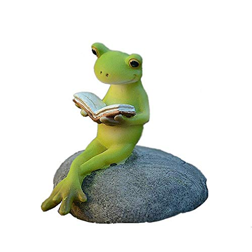 Home Decoration Collection Ideas Crafts Decor Cute Frog Shaped-Ornament/Resin Table Decoration Pastoral Style Craft Garden Decor Outdoor Patio Design Art Figurines Yard Decorations Cartoon Home Decor