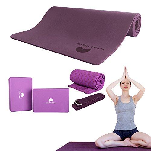 LHOTSEX 5 Piece Blocks Towel Purple