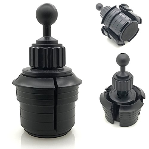 Ball Double Socket Arm - Truck Car Beverage Drinks Cup Holder Mount Base with 1 inch /25mm rubber coating Ball compatible with all 25mm / 26mm / 1