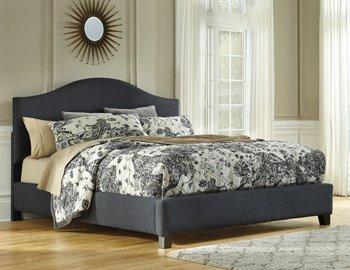 Ashley Furniture Signature Design - Kasidon Upholstered Footboard - King/California - Component Piece - Dark Gray B600-456