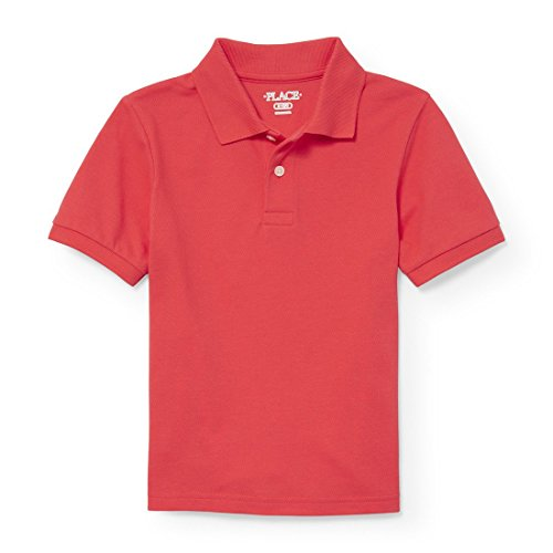 The Children's Place Boys' Big Short Sleeve Uniform Polo, Light SIAM 2428, S (5/6) by The Children's Place