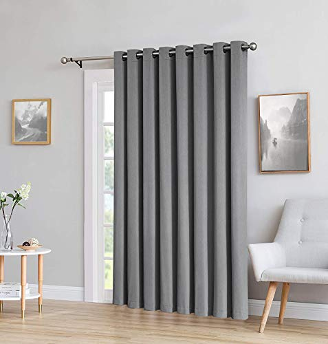 - Yakamok Wide Blackout Patio Door Curtain Panel, Sliding Door Insulated Curtains,Room Divider Curtain, Vertical Blinds for Dinding Room with Grommet Top(Grey, 100 by 84 Inches,1 Panel)