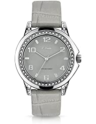 F.Steen Womens Alp FS2B3 Japan Quartz Silver Case Fashion Analog Watch with Genuine Leather Band