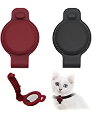 Tomicy Airtag Case (2 PCS),Pet Silicone Protective Case for AirTag for Dog and Cat Collar,Scratch Resistant, Washable, Sweatproof,Adding Minimum Weight and Feel Comfortable