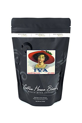 Charter Oak  California   Iva Brand Citrus Label  8Oz Whole Bean Small Batch Artisan Coffee   Bold   Strong Medium Dark Roast W  Artwork