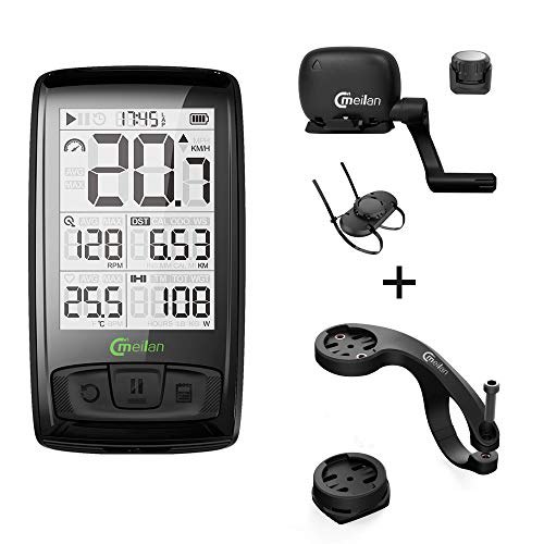 Meilan Cycling Computer Wireless Bike Computer M4 ANT+ BLE4.0 Speed/Cadence Sensor -